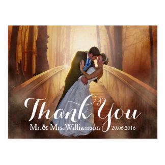 Einfache Foto-Hochzeit danken Ihnen Postkarten