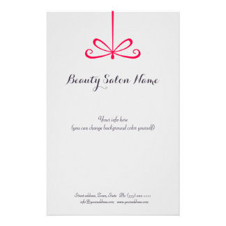 Einfache graue Haar-Stylist-Rosa-Band-Preisliste Flyer