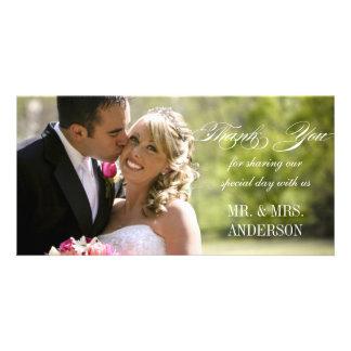 Einfache Hochzeit danken Ihnen Foto Karten Vorlage