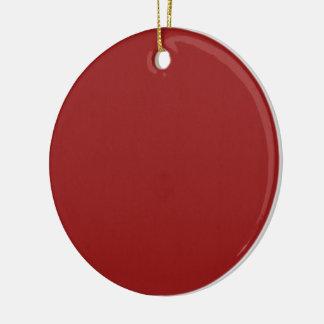 Einfache leere Rot-Schatten DIY addieren Keramik Ornament