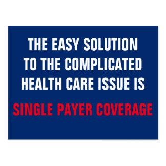 Einfache Lösung zum Gesundheitswesen ist Postkarte