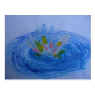 Einfache Lotos-Blume Postkarte