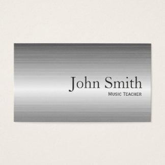 Einfache Metallmusik-Lehrer-Visitenkarte Visitenkarten