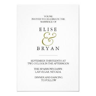 Einfache moderne elegante Typografie-Hochzeit Karte