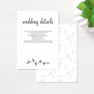 einfache moderne HochzeitsEinzelkarten Jumbo-Visitenkarten