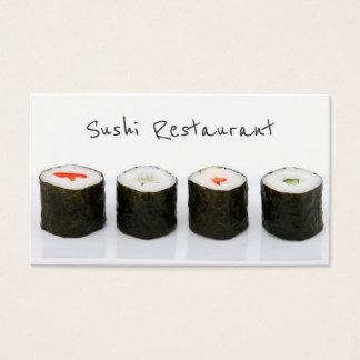Einfache moderne Sushi-Visitenkarte Visitenkarte