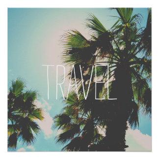 Einfache Reise-Schablone Perfektes Poster