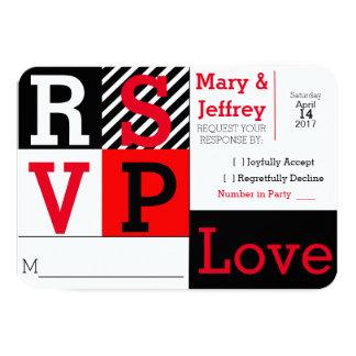 Einfache rote und gestreifte Foto-Hochzeit UAWG Karte