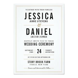 Einfache rustikale Hochzeits-Einladung 12,7 X 17,8 Cm Einladungskarte