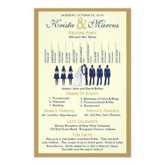 Einfache Silhouetten, die Programm-Flyer Wedding Flyer