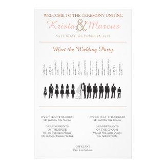 Einfache Silhouetten, die Programm Wedding sind Flyer