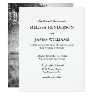 Einfache unbedeutende Foto-Hochzeits-Einladung 10,8 X 14 Cm Einladungskarte