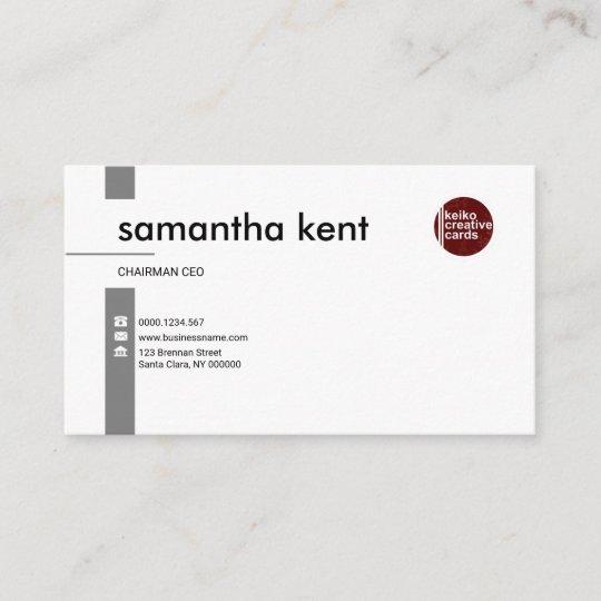 Einfacher Beruflicher Vorzüglicher Weiß Ceo Visitenkarte
