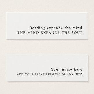 Einfacher Entwurfs-Lesezeichen Mini Visitenkarte