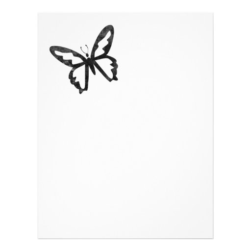 Einfacher Grungy schwarzer Schmetterling Flyerdruck