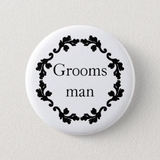 Einfacher Hochzeit Trauzeuge Runder Button 5,1 Cm