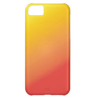 Einfacher orange Goldrot-Schatten iPhone 5C Hülle