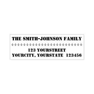 Einfacher personalisierter Familienname + Adresse Permastempel