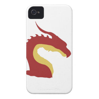 Einfacher roter Drache iPhone 4 Hülle