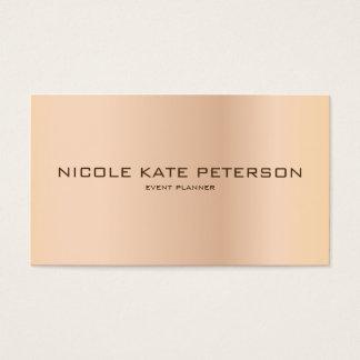 Einfacher unbedeutender eleganter Event-Planer Visitenkarten