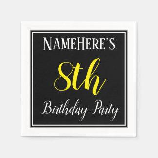 Einfaches, 8. Geburtstags-Party mit individuellem Papierserviette