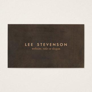 Einfaches elegantes Brown-ledernes berufliches Visitenkarte