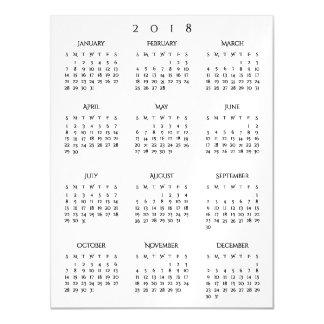 Einfaches elegantes Zuhause-Büro des jährlichen Magnetische Karte