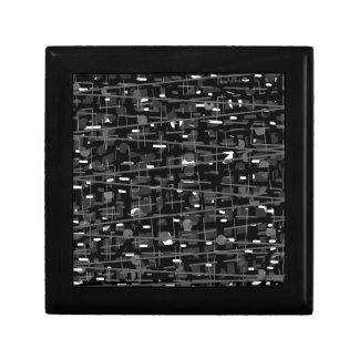 Einfaches Grau Kleine Quadratische Schatulle