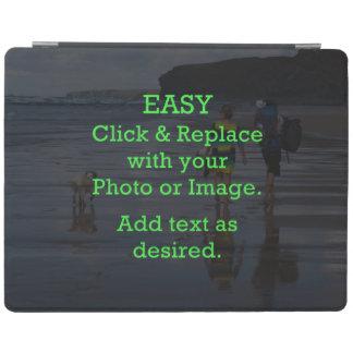Einfaches Klicken u. ersetzt Bild, um Ihre Selbst iPad Hülle