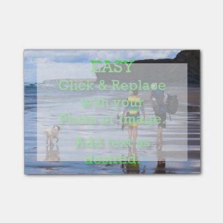 Einfaches Klicken u. ersetzt Bild, um Ihre Selbst Post-it Haftnotiz