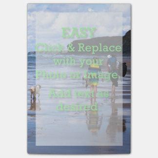 Einfaches Klicken u. ersetzt Bild, um Ihre Selbst Post-it Klebezettel