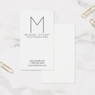 Einfaches modernes unbedeutendes visitenkarte