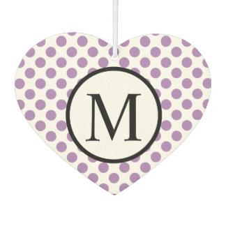 Einfaches Monogramm mit Lavendel-Tupfen Lufterfrischer