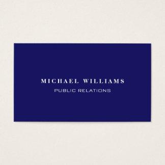 Einfaches Professionelles Elegantes Marineblau Visitenkarten