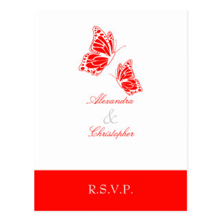 Einfaches rotes Schmetterling UAWG 2 Postkarte