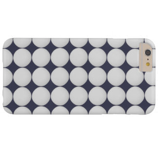 Einfaches Weiß auf Mitternachtsblau Barely There iPhone 6 Plus Hülle