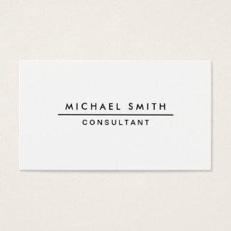Einfaches weißes berufliches elegantes modernes visitenkarten