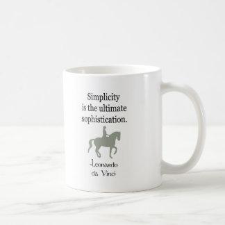 Einfachheits-Zitat mit Dressage-Pferd Kaffeetasse