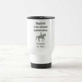 Einfachheits-Zitat mit Dressage-Pferd Reisebecher