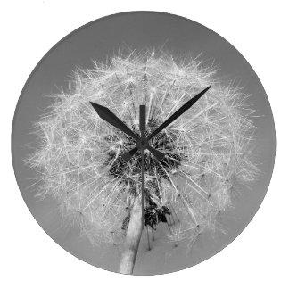 Einfarbige Löwenzahn-Uhr Große Wanduhr