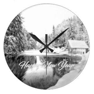 Einfarbige neues Jahr-Geschenk-Uhr Große Wanduhr