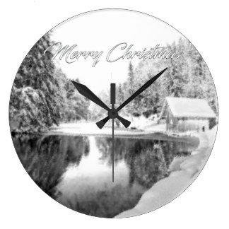 Einfarbige Weihnachtsgeschenk-Uhr Große Wanduhr