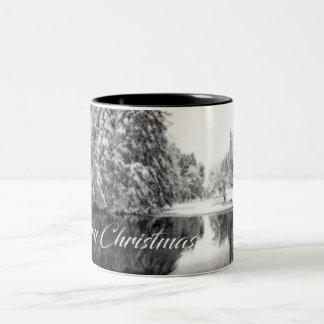 Einfarbige Weihnachtsthema-Tasse Zweifarbige Tasse