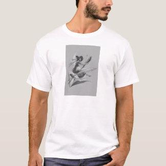 Einfarbiger Hexe-Raben-Halbmond-Mond T-Shirt