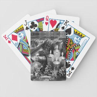 Einfarbiges Thema des neuen Jahres Spielkarten