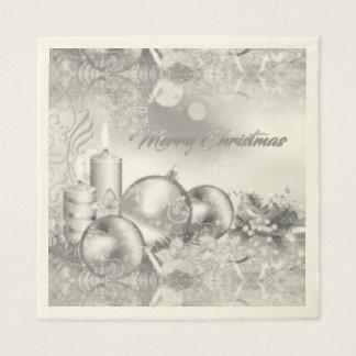 Einfarbiges Weihnachtsseidenpapier Papierservietten