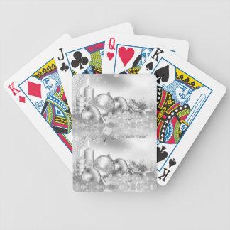 Einfarbiges Weihnachtsthema Spielkarten