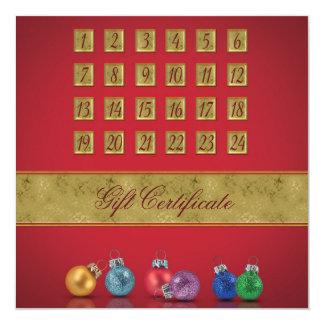 Einführungs-Kalender mit Verzierungen - Quadratische 13,3 Cm Einladungskarte