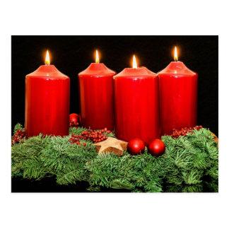 Einführungs-Kranz der frohen Weihnachten Postkarte