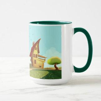 eingebildete Haus Tasse
